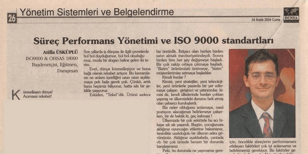 Süreç Performans Yönetimi ve ISO9000 Standartları