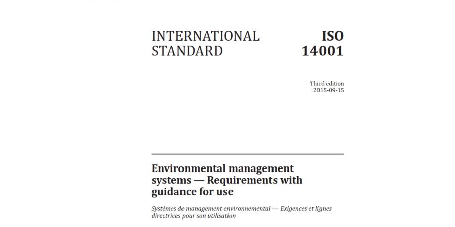 ISO14001 : 2015 Standardının Maddeleri ve Yapısı